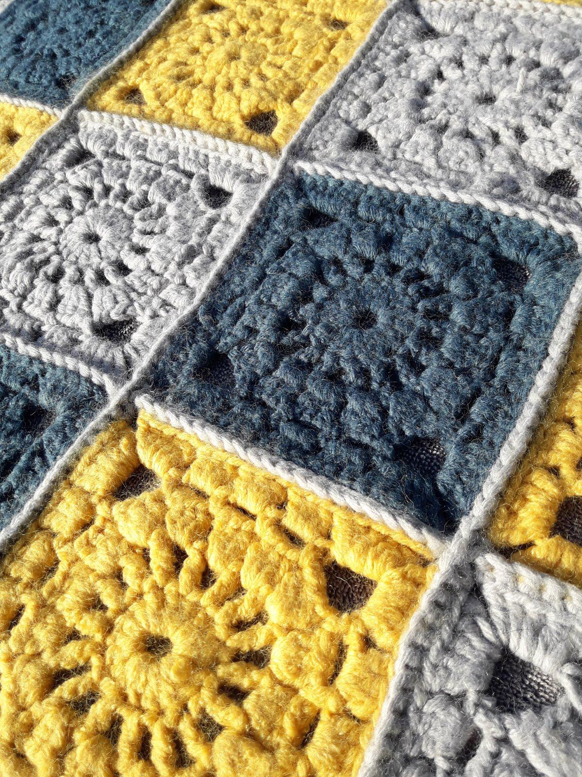 au crochet qui m u0026 39 aille     couverture granny square