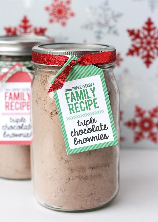 Triple Chocolate Brownies Gift Jar