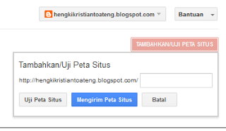 cara daftar sitemap blog ke google