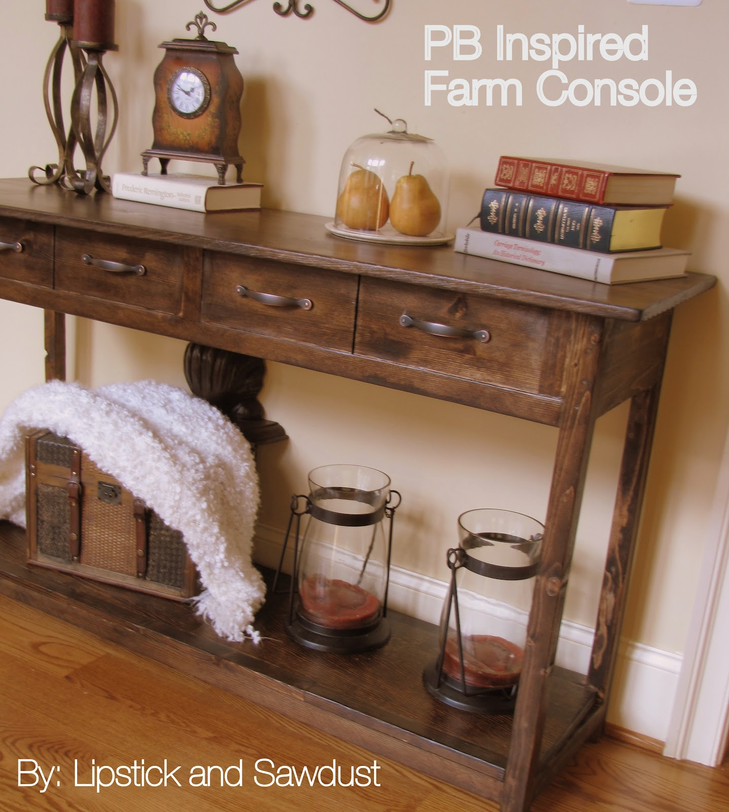 Good PB Inspired Console Table. Pottery Barn Inspired Console Table