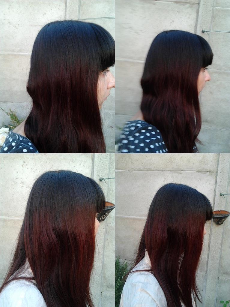 Baño De Color Rojo En Pelo Oscuro: con el antes y después de mi pelo en similares condiciones de luz