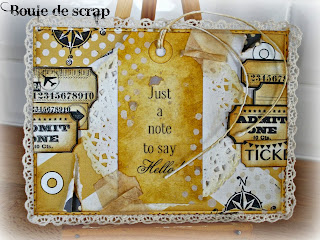 SRM Stickers Blog -Angelique Jarrier- #thankyou #card #mixedmedia #stickers #fancy
