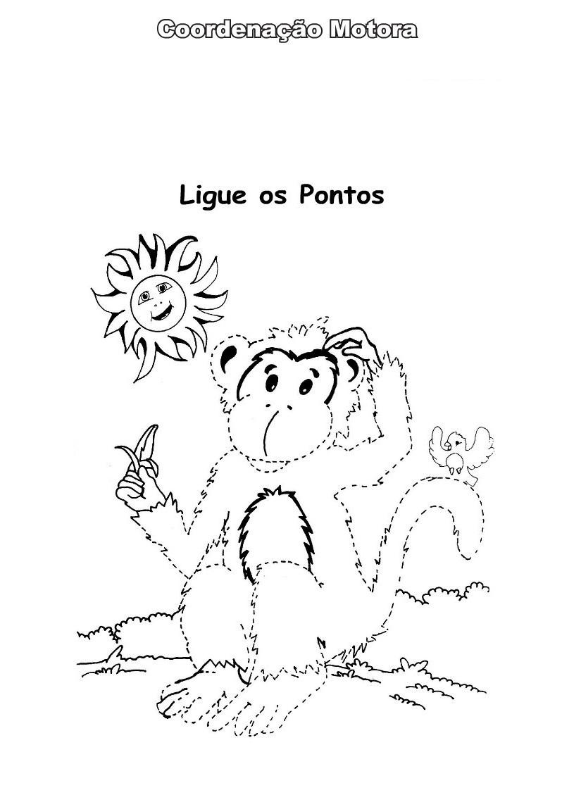 Desenhos Para Colorir Ligar pontos animais selvagens