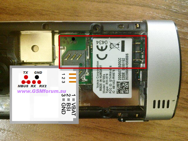 Nokia 6700s RM 576 Universal Cable Pinout | Learn how to