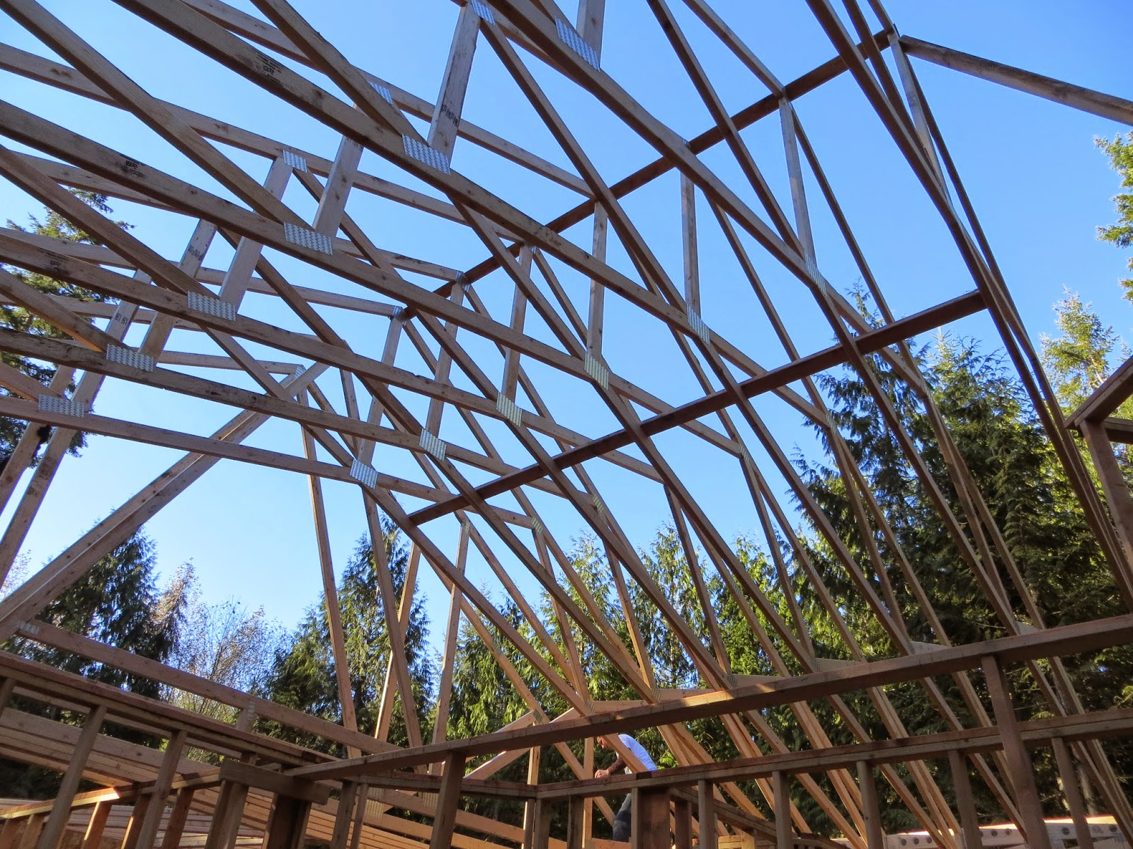 Tales of a rambling rover trusses for Cathedral ceiling trusses