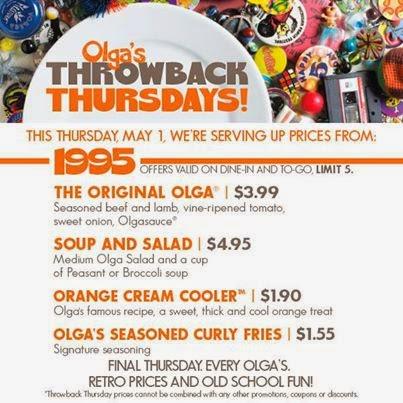 Olgas coupon code