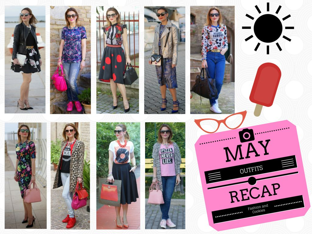 fashion blogger outfits recap, May outfits recap, welcome june, fashion and cookies fashion blog, fashion blogger style