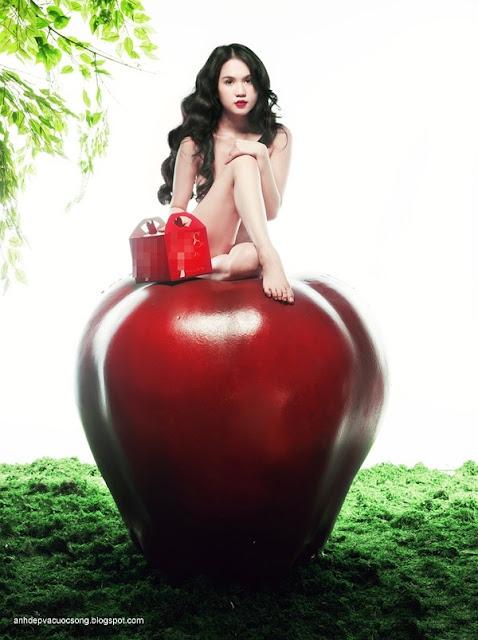Hình ảnh đẹp người mẫu Ngọc Trinh và trái cấm