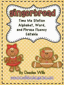 http://www.teacherspayteachers.com/Product/Gingerbread-Time-Me-Alphabet-Word-and-Phrase-Fluency-StationEditable-170939