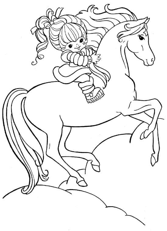 Раскраска для девочек с лошадками