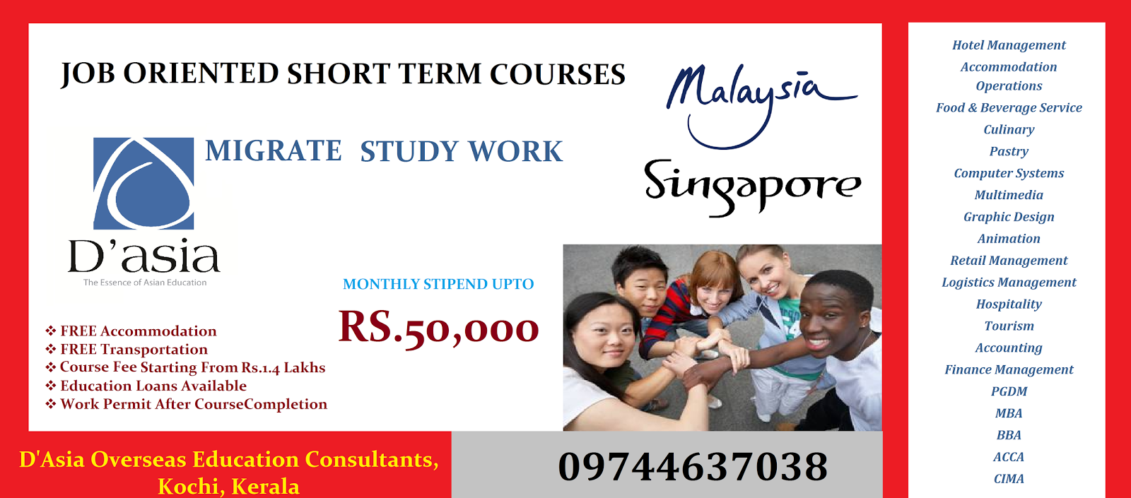 d asia overseas education consultants 2014 spend little and search a job by yourself contact d asia overseas education consultants to know more about cheaper yet job oriented courses abroad