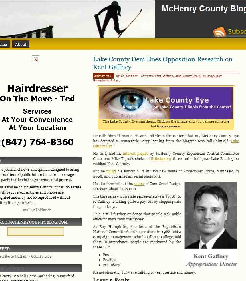 Lake county eye july 2011 lake county dem does opposition research on kent gaffney solutioingenieria Images