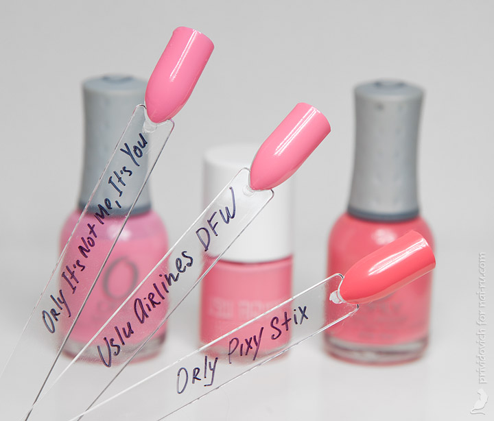 Orly It's Not Me, It's You + Uslu Airlines DFW +  Orly Pixy Stix