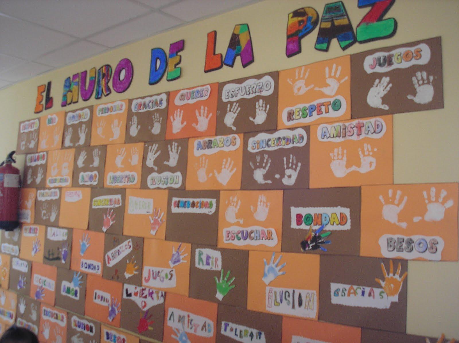 Recursos de educaci n infantil el muro de la paz for Cuales son los pasos para realizar un periodico mural