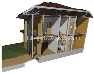 rumah idaman: desain rumah 2 lantai di atas lahan 150 m2
