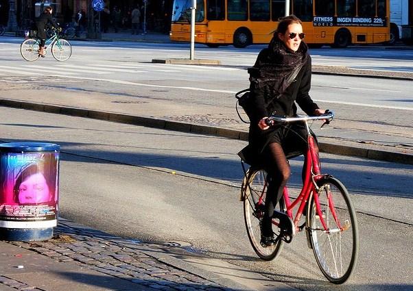 Ragazze Danesi Sey Bicicletta Belle Bella Ragazza Danese Danimarca