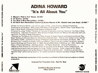 Adina Howard Feat. Busta Rhymes & Mr. Cheeks - It\'s All About You-Promo-CDM-1995