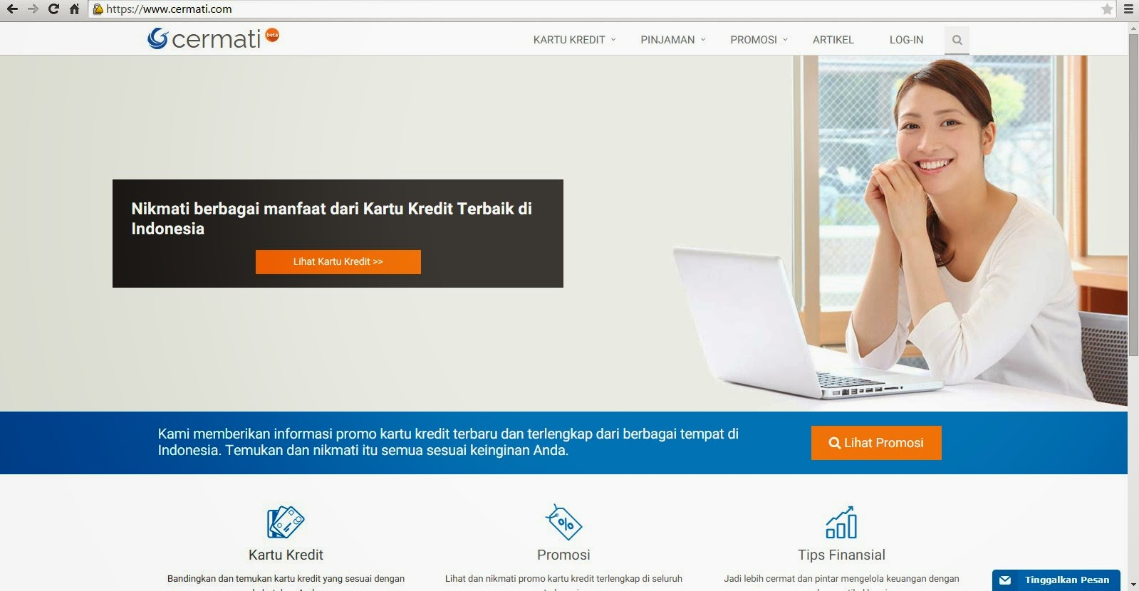 Cermati com salah satu website yang memberikan informasi promo kartu kredit kredit tanpa agunan kta kredit multiguna kmg tabungan deposito kredit