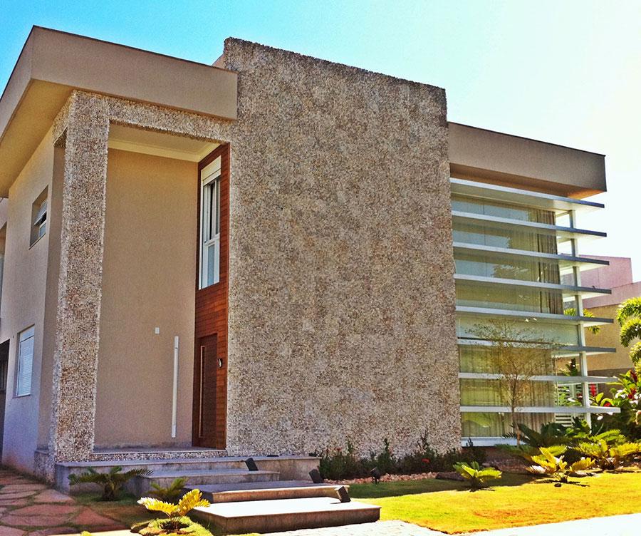 24 fachadas de casas modernas tipos de revestimentos - Tipos de fachadas ...