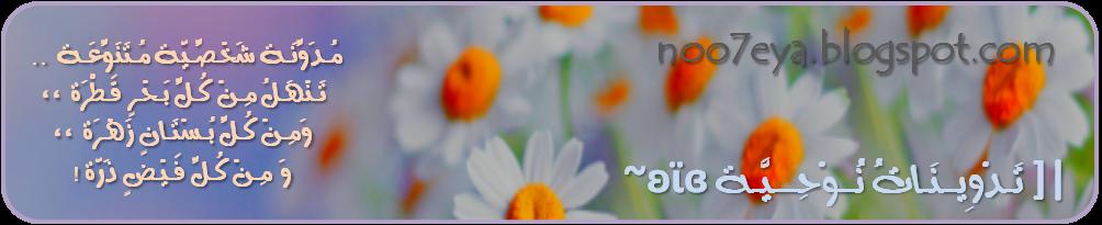 |[ تَـدْوِيــنَـاتُ نُــوْحِـــيَّـة    ʚϊɞ ~