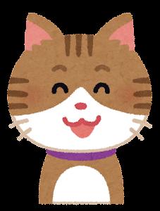 いろいろな表情の猫のイラスト「笑い顔」
