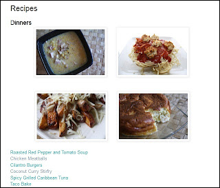 Recipes Page