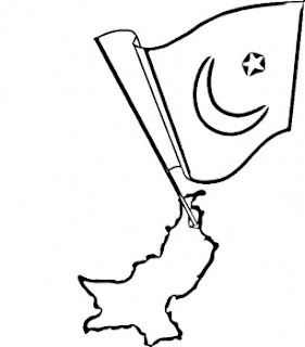 free pakistan flag coloring pages - Flag Coloring Pages