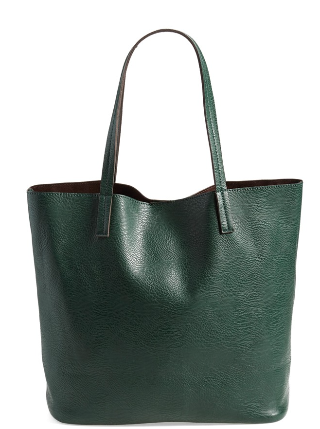 Fall fashion - Street Level Vegan Leather Pocket Tote (online only) $31.90