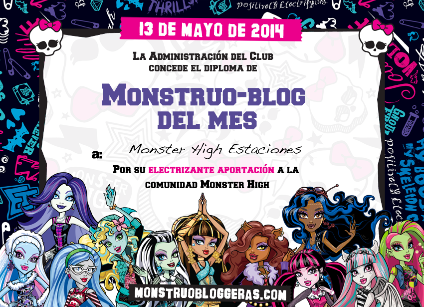 Somos monstruoblogger@s del mes de mayo¡¡