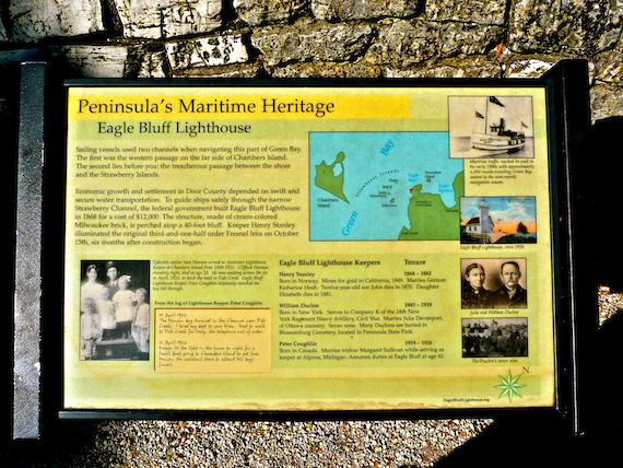 Peninsula Maritime Heritage Info at Eagle Bluff Lighthouse within the Peninsula State Park in Door County, Wisconsin