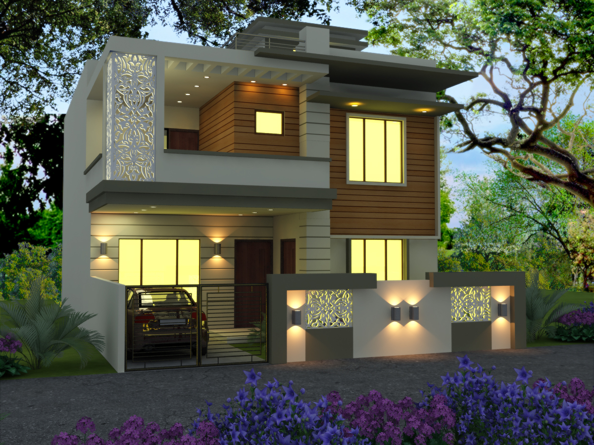 Ghar planner leading house plan and house design for Beautiful small home pictures