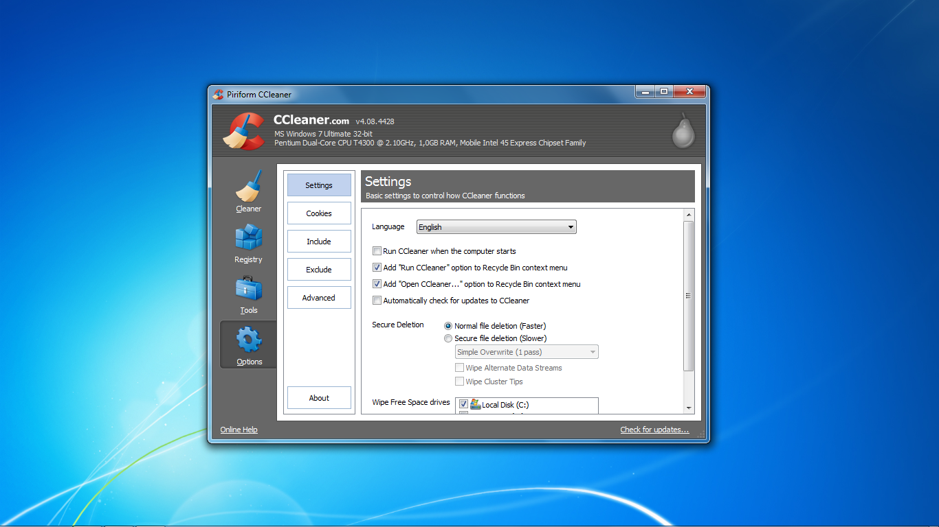 CCleaner-Options