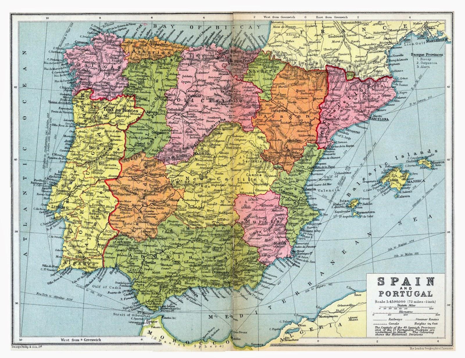 1936 mapa de España
