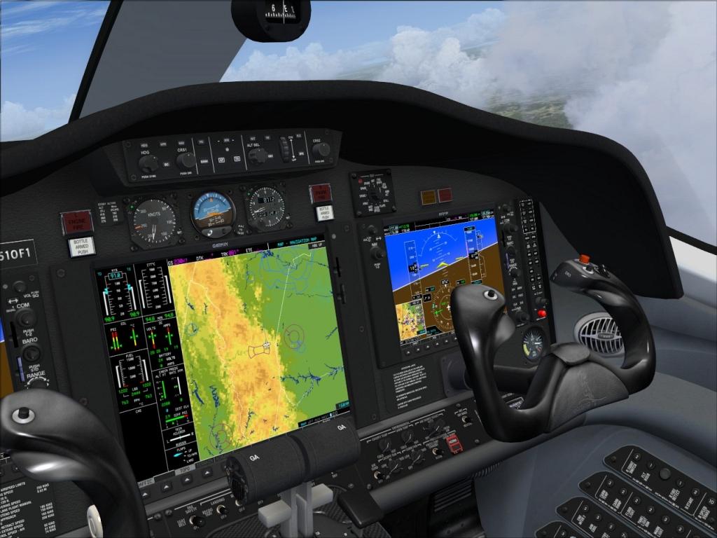 Cessna citation mustang fsx for Grandi jet privati in cabina