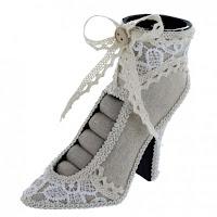 Linen Shoe Display