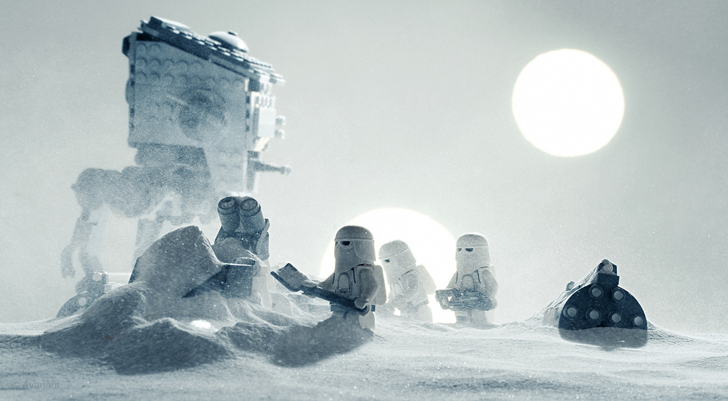 recreacion con lego de star wars