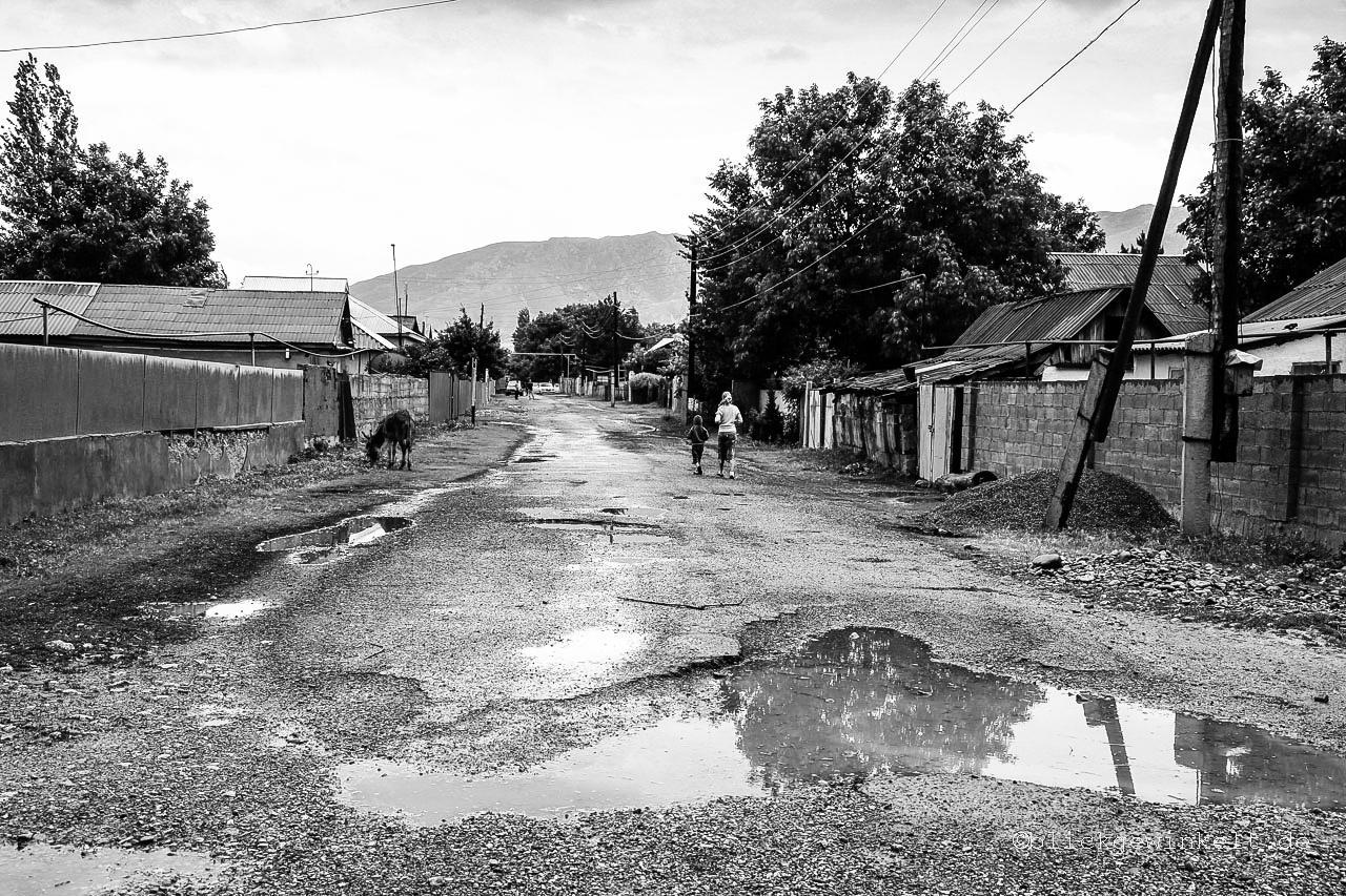 Kasachstan Dorf