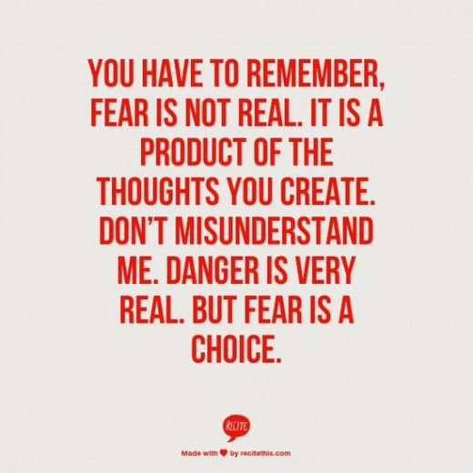 FEAR IS NOT REAL  >> STARTS WITH CUPCAKES