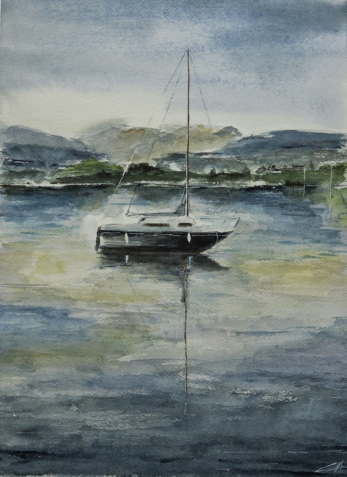 bateau marine aquarelle