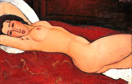 Amadeo Modigliani - Desnudo reclinado - Cuadro 4269