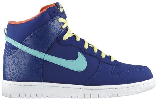 Nike Air Force 1 Low Atomic Teal/Anthracite: Nike Dunk High Deep Royal Blue/Crystal Mint-Electric Yellow: