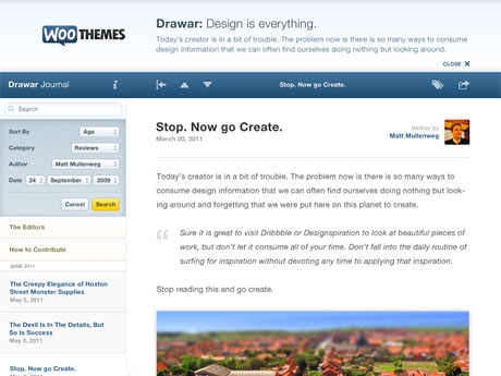 Image for Drawar – Premium Theme by WooThemes