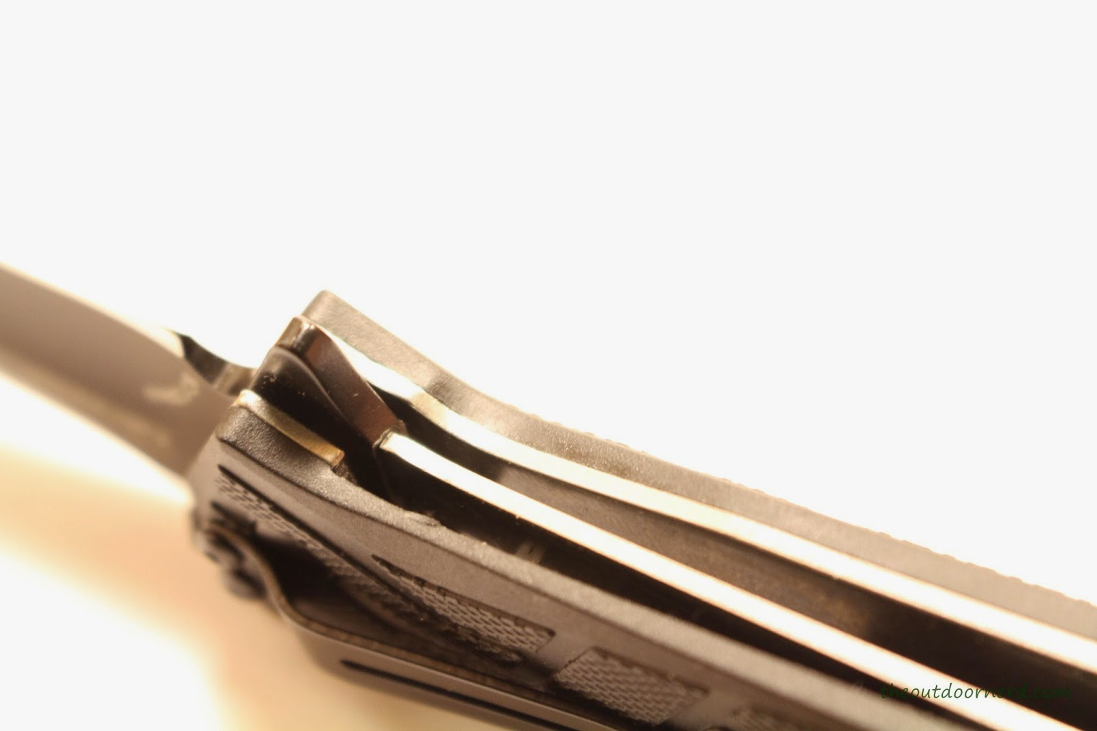 Kershaw Brawler Pocket Knife Another Closeup Of Lockup