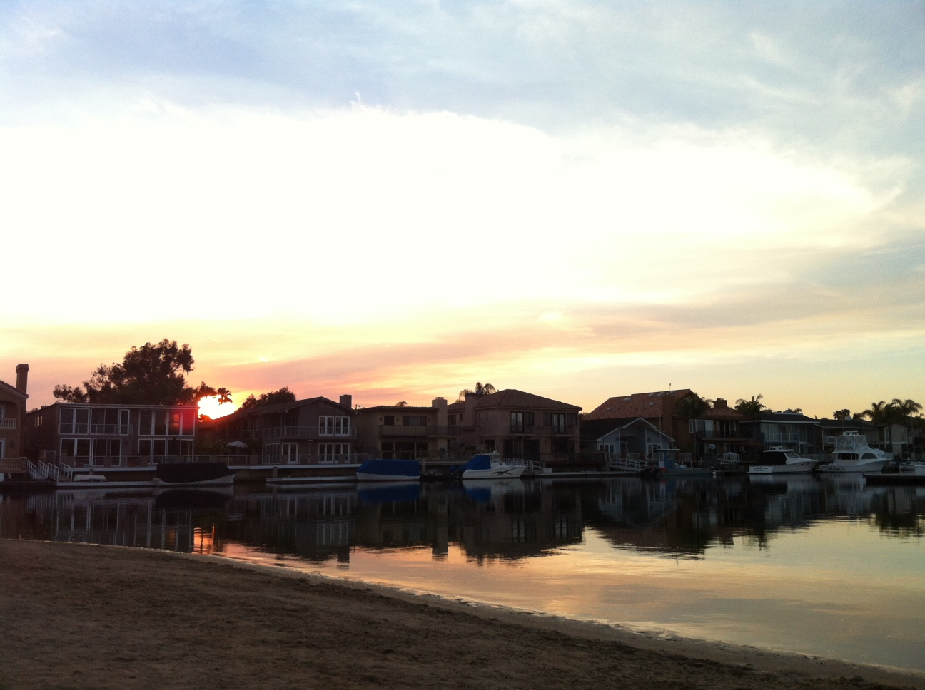 Huntington Harbor Sunset