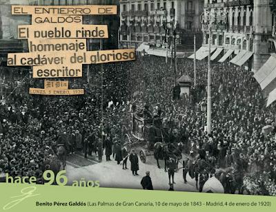 Entierro de Pérez Galdós. Madrid, 5 de enero de 1920