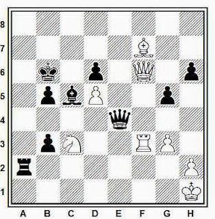 Posición de la partida de ajedrez Rumbell - Monclov (URSS, 1957)