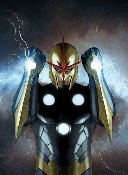 Dibujo de Nova-Marvel