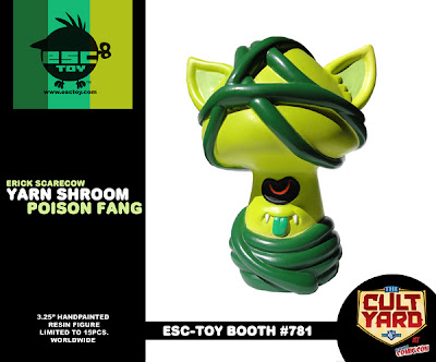 ESC Toy New York Comic-Con 2011 Exclusive Yarn Shroom Poison Fang Resin Figure by Erick Scarecrow