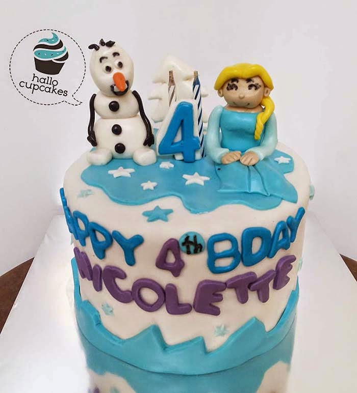 mini cake elsa and olaf