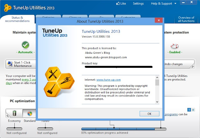 Free Download TuneUp Utilities 2013 v13.0.3000.138 Terbaru